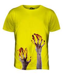 emoji halloween costume zombie hands mens printed t shirt top blood halloween costume