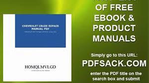 chevrolet cruze repair manual pdf video dailymotion