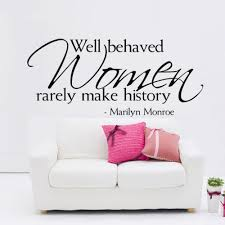 compare prices marilyn monroe wall decals online shopping buy well behaved women rarely make history marilyn monroe quotes wall decals removable vinyl for home