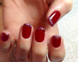 16 christmas gel nail designs gel fade with glitter and christmas