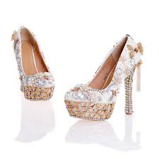 pearl wedding shoes 2017 newest design white pearl wedding shoes with matching bag