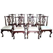Stickley Mahogany Dining Chair Set 8 Chairish