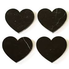 heart shape nature marble drink coasters for drinking cup buy