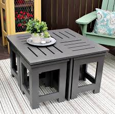 diy outdoor coffee table diy outdoor coffee table with 4 hidden side tables