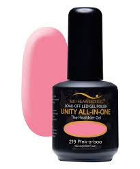 bio seaweed gel pink a boo unity all in one gel nail polish zulily
