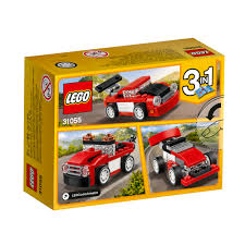 peugeot lego 31055 lego creator red racer sports car 72 pieces age 6 12 new