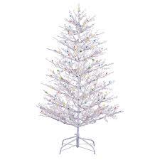 shop ge ft pre lit winterberry white artificial tree
