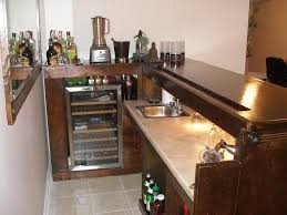simple home bar design with warm interior nuance completed with