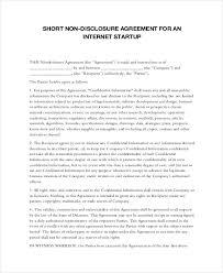 mutual non disclosure agreement form u2013 10 free word pdf