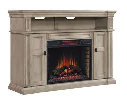 wyatt infrared electric fireplace media console in weathered