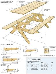 Build Wood Workbench Plans by How To Build A Classic Picnic Table Woodworking Workbench