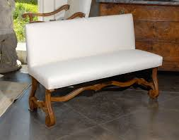 french upholstered bench settee at 1stdibs
