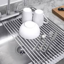 Kitchen Magnificent Dish Drainer Sink Protector Mat Kitchen Sink by Best Rated In Dish Racks U0026 Helpful Customer Reviews Amazon Com