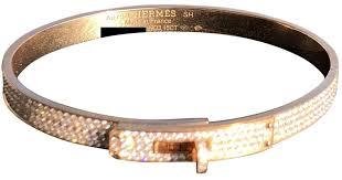 gold bracelet hermes images Lyst herm s kelly pink gold bracelet in metallic jpeg