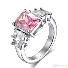 rings pink stones images 2 ct simulated diamond ring micro ring with pink stones fashion jpg