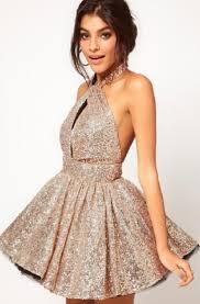pretty new years dresses dress sparkle skater halter neck mini new year s