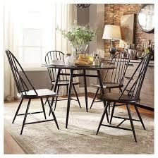 Dining Chair Set Of 4 Juniper Lane Mixed Media Windsor Dining Chair Metal Dark Oak Set