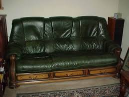 Leather And Wood Sofa Inspiring Leather And Wood Sofa Green Leather Wood Sofa Local