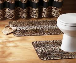 Bathroom Decor Set by 2 Pc Leopard Print Bathroom Rug Set Acrylic Home Decor New I6310