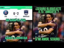 Neymar Memes - memes psg vs bordeaux 6 2 abrazo de neymar y cavani memes