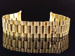 rolex bracelet diamonds images 18k yellow gold president band for rolex jpg