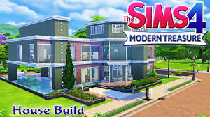 the sims 4 house build modern treasure family home with pool