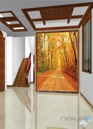 3d autumn forest lane corridor entrance wall mural decals art 3d autumn forest lane corridor entrance wall mural decals art prints wallpaper 032