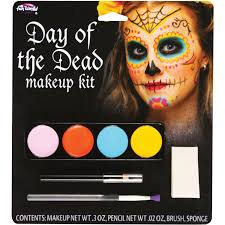 female day of the dead makeup kit halloween accessory