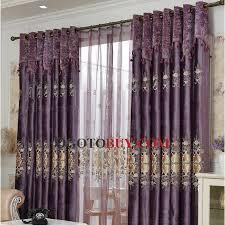 Purple Room Darkening Curtains Curtains Floral Embroidery Velvet Purple Room Darkening
