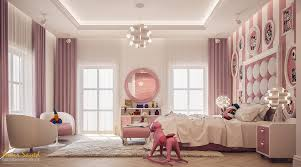 pink and white girl s bedroom design idea digsdigs there are all the necessary areas in the room from a window nook to a