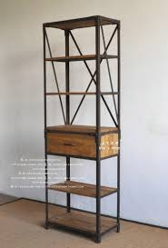 Industrial Bookcase With Ladder by Bookcase 38 Fascinating Metal And Wood Bookcase Photo