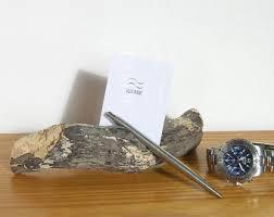 business card holder desk etsy