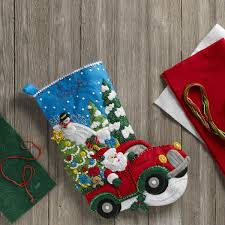 bucilla seasonal felt stocking kits the christmas drive