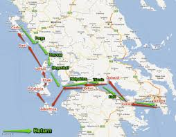 Ithaca Greece Map by Ionian U2039 Aristotelis Yachts