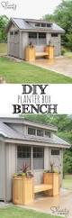 bench planter box bench plans backyard planter and seating steps