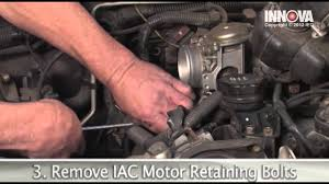 how to change idle air control iac valve motor 2002 mitsubishi