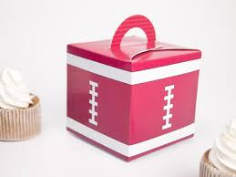 football party favors football rugby theme favor box cupcake box candy box 10pcs lot
