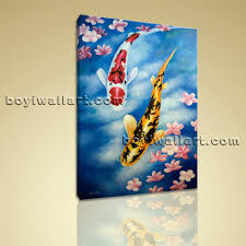 Zen Bedroom Wall Decor Giclee Prints On Canvas Feng Shui Zen Wall Art Koi Fish Gallery