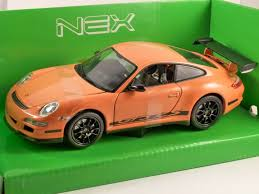 Porsche 911 Orange - porsche 911 gt3 rs 997 in orange 1 24 scale model by welly