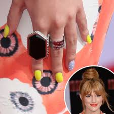 celebrity nail art manicures bella thorne olivia palermo polyvore
