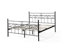 metal bed king size bed frame 160x200 cm black lepus