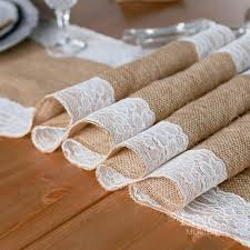 Shabby Chic Tablecloth by Retail Natural Burlap Table Runner Hessian Vintage Tablecloth
