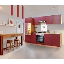 küche mit e geräten respekta küchenzeile ohne e geräte lbkb270br 270 cm rot buche