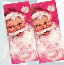 two vintage hallmark christmas cards santa px 110 5 made in usa