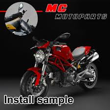 ducati monster 696 08 10 11 12 13 black rear view side aftermarket
