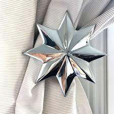 pair chrome star curtain holdback doup com au