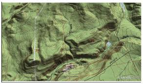 Topographic Map Of The United States by Google Earth Library
