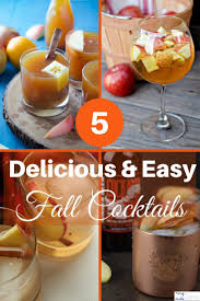 5 delicious and easy fall cocktails cocktail recipes bourbon