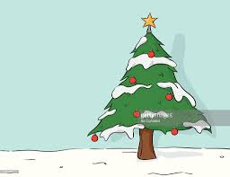 christmas tree drawing vector art getty images