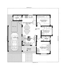 small two house floor plans single small house plan floor area 90 square meters below